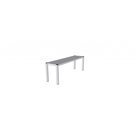 Étagère de table en inox 1 niveau