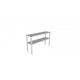Étagère de table en inox 2 niveaux