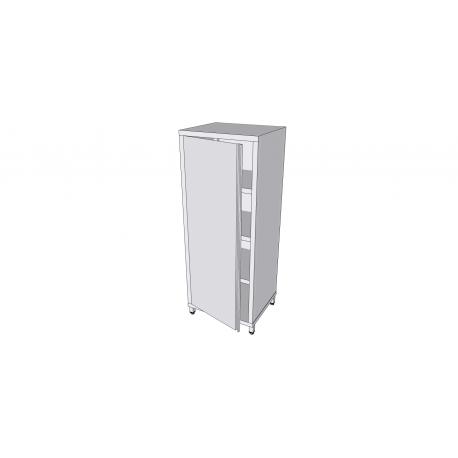 Armoire verticale en inox sur pieds avec 1 porte battante profondeur 60cm