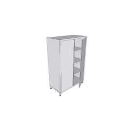 Armoire verticale en inox sur pieds avec 2 portes battantes profondeur 60cm
