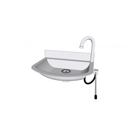 Lave-mains en inox avec commande fémorale