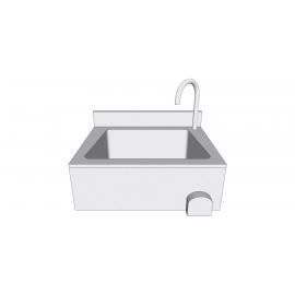 Lave-mains en inox de luxe avec commande fémorale