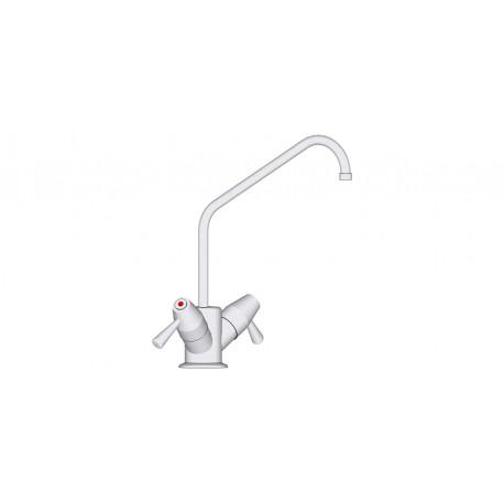 Robinet mélangeur 1 trou commande manuelle pour bacs et lave-mains