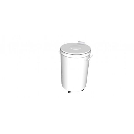 Poubelle inox modèle CP100 diamètre 45cm hauteur 70cm