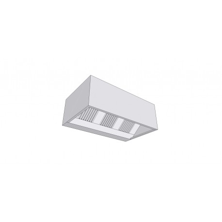 Hotte rectangle passive en inox profondeur 900mm