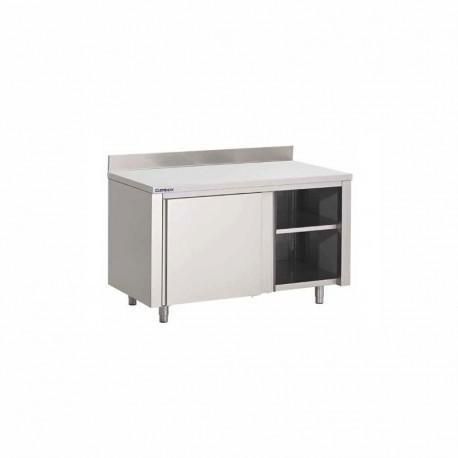 Table-armoire adossée à portes coulissantes 1000X700X850 mm