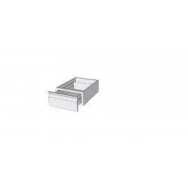 Bloc 1 tiroir en inox GN 1/1
