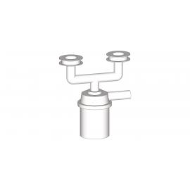 Groupe siphon 2 trous pour bacs et lave-mains