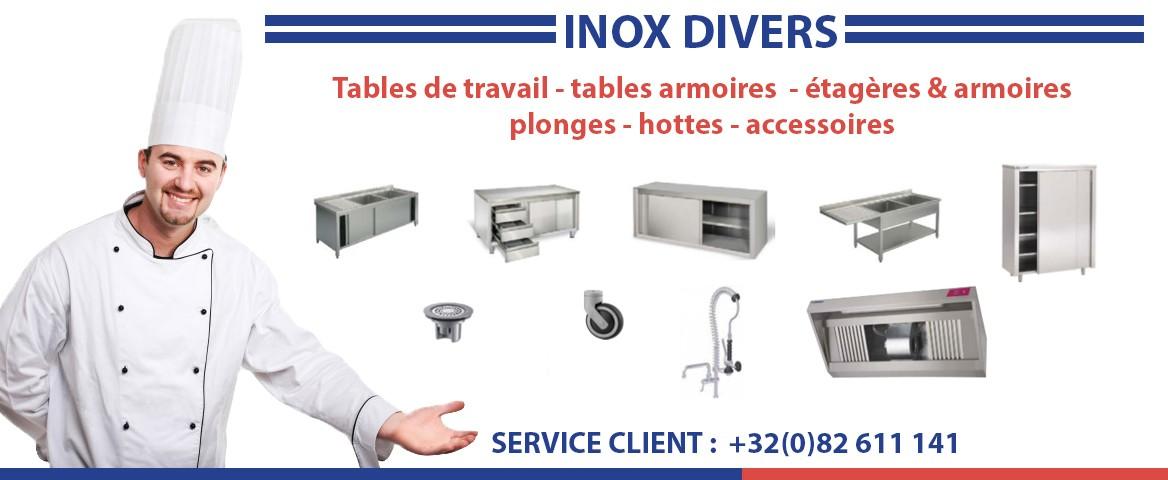 Vente matériel et équipements inox horeca