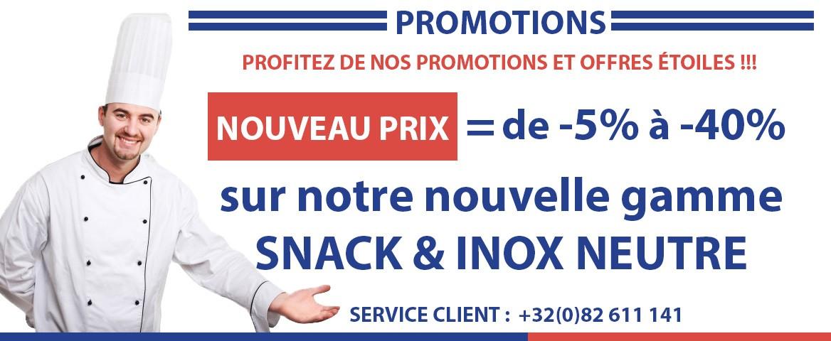 Promotions matériel inox horeca